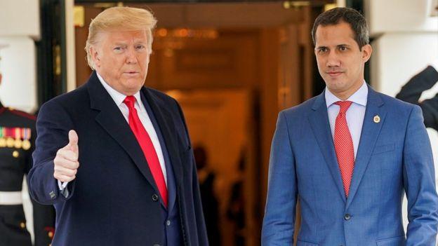 Donald Trumo y Juan Guaidó enla Casa Blanca el 5 de febrero de 2020