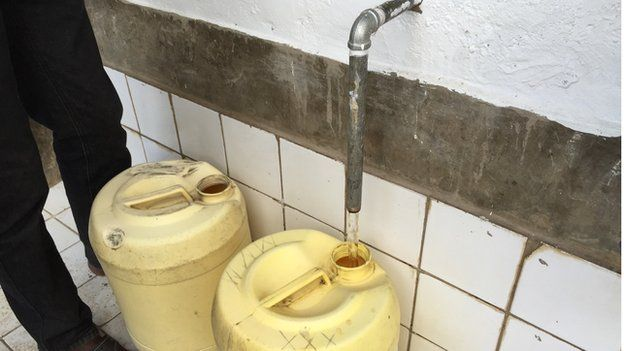 Water coming from tap