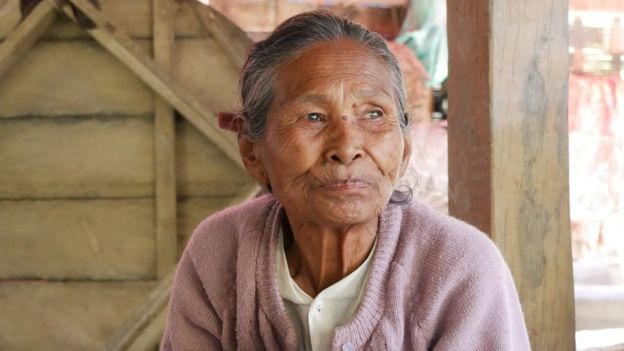 A villager in Mrauk U