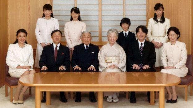 日本天皇明仁和皇室成员