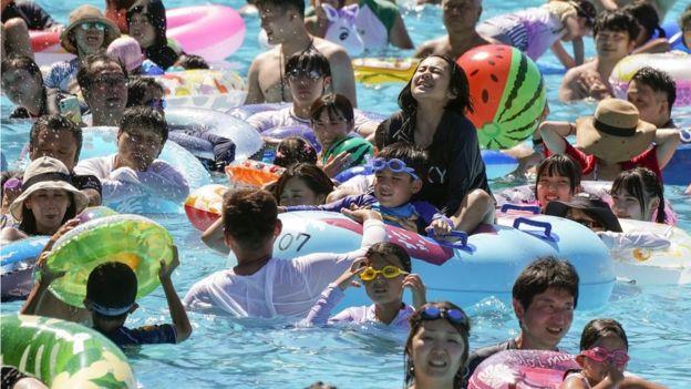 Японцы в Токио 11 августа