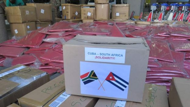 Medical supplies being sent to Cuba