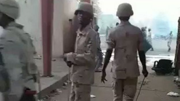فيديو صادم للقوات الأمنية في السودان