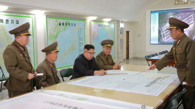 Kim Jong-un visits the Korean People's Army Strategic Force command