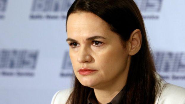 Svetlana Tikhanovskaya di Vilnius, 21 Agustus