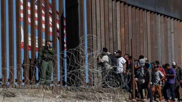 Frontera entre México y EE. UU. en Tijuana.