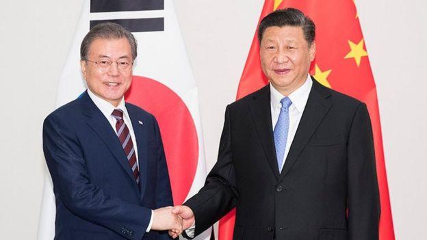 习近平与韩国总统文在寅
