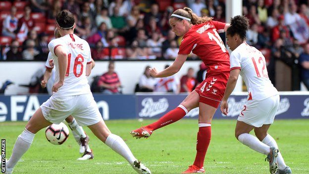 Nicoline Sorensen: Everton Women poised to sign Denmark striker ...