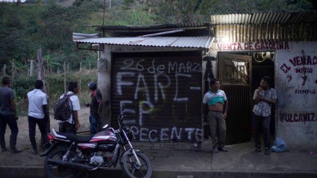 Mural de las FARC en Toribío, Cauca