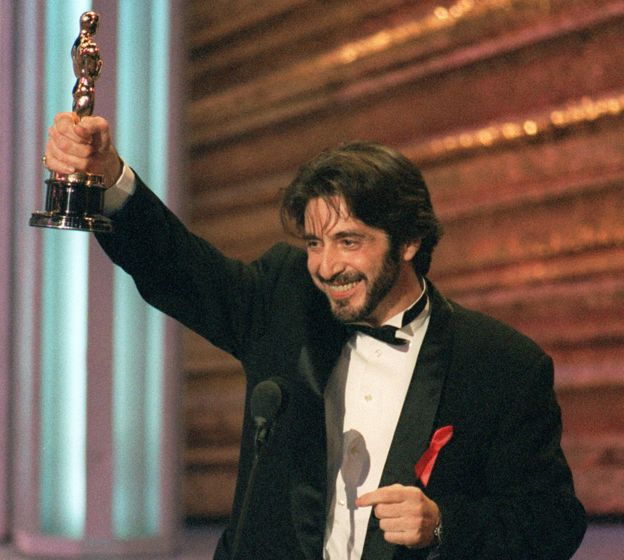 Al Pacino the last time he was nominated for an Oscar, in 1993