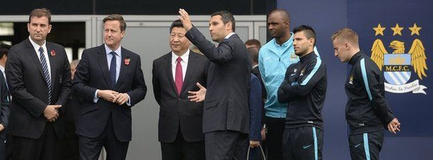 Mr Xi meeting former and present players