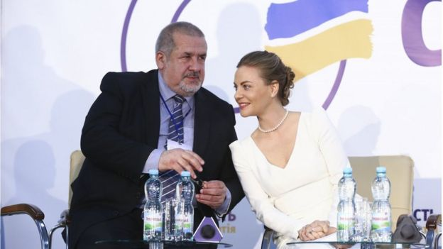Рефат Чубаров і Олена Сотник