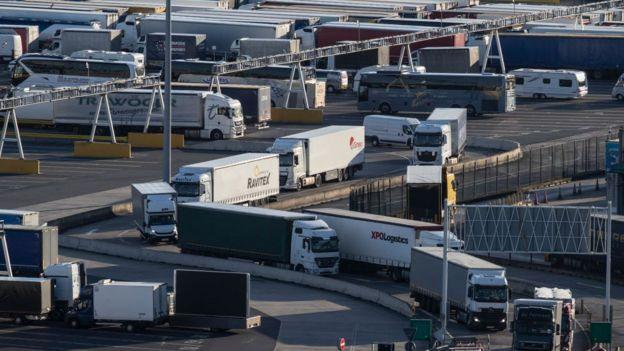 Camiones en la frontera