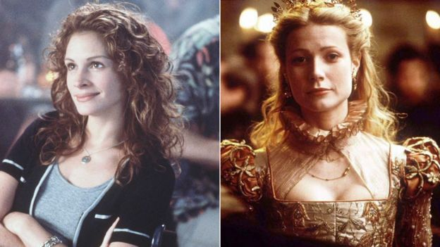 Julia Roberts in My Best Friend's Wedding and Gwyneth Paltrow in Shakespeare in Love