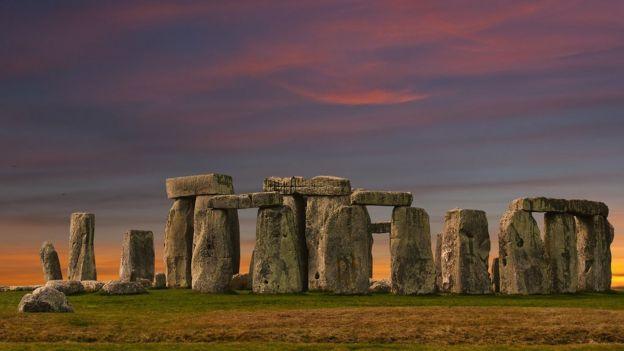 Pedras do monumento de Stonehenge