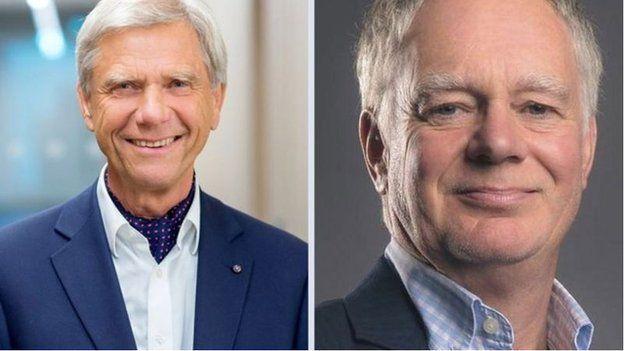 安谋两位共同创办人豪泽(左)和布朗(右)对收购案提出警告(Credit: AMADEUS CAPITAL/TUDOR BROWN)