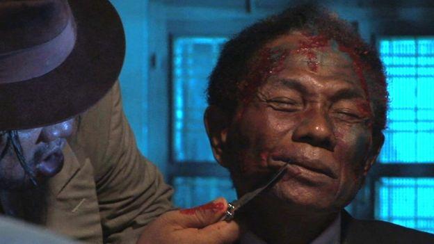 كونغو انهار عندما أدى دور الضحية في نهاية الفيلم