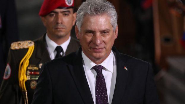 El mandatario de Cuba, Miguel Díaz-Canel