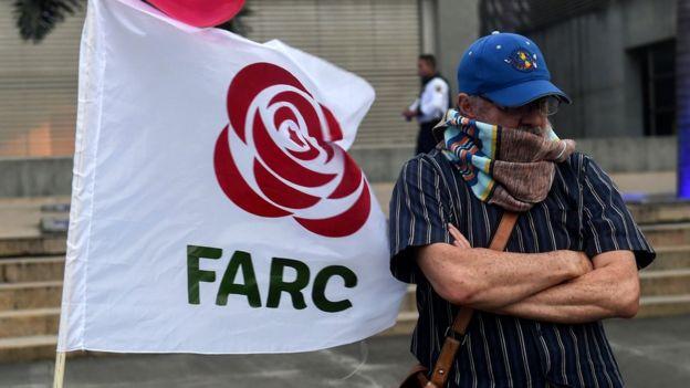 Militante del partido FARC
