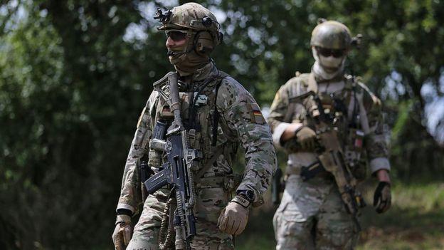 Бойцы KSK на учениях в 2014 году