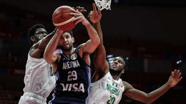Wuhan was a host city for the 2019 Basketball World Cup - including this match between Argentina and Nigeria