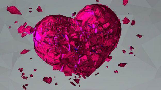 ilustración - corazón roto