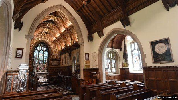 St Mary Magdalene church interior