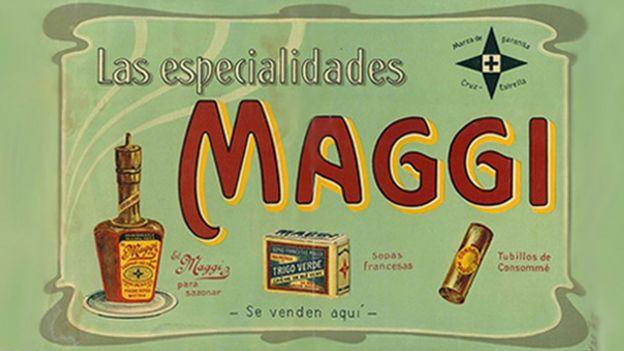 Propaganda antiga da Maggi em espanhol no início do século 20