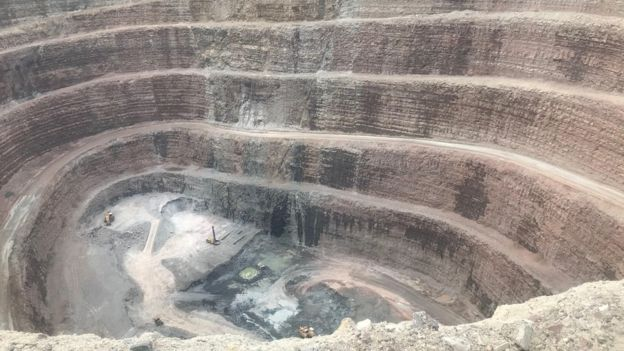 One of Alrosa's deep diamond mines in Russia