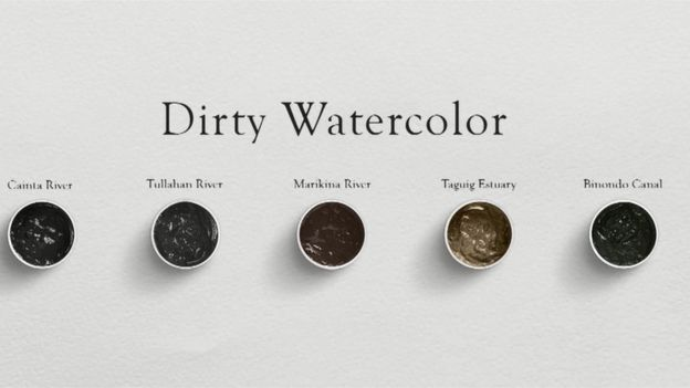 Filipino artists get dirty to highlight pollution in Manila's rivers