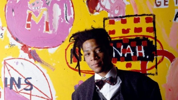 Jean-Michel Basquiat was just 27 in 1988 when this portrait was taken.