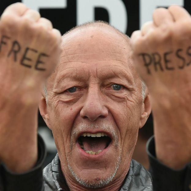 Basın özgürlüğü eylemi