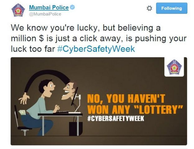 The Mumbai police Twitter feed that fights crime with puns - BBC News