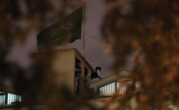 Consulado saudita en Estambul.