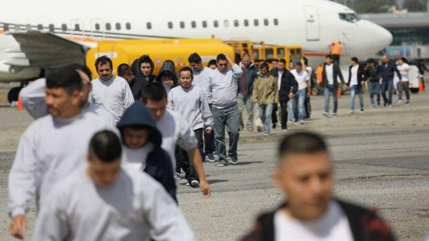 Guatemaltecos deportados de Estados Unidos.
