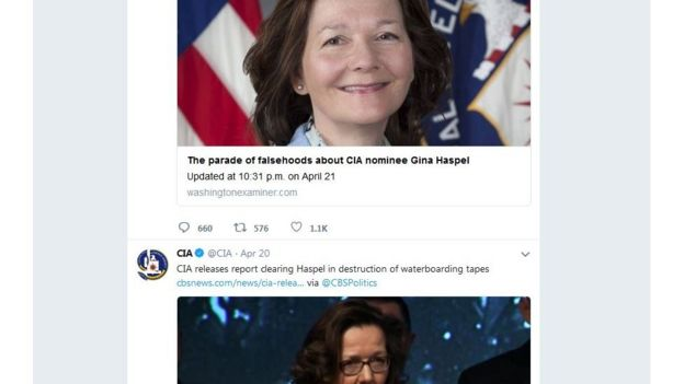 CIA的推特帳號