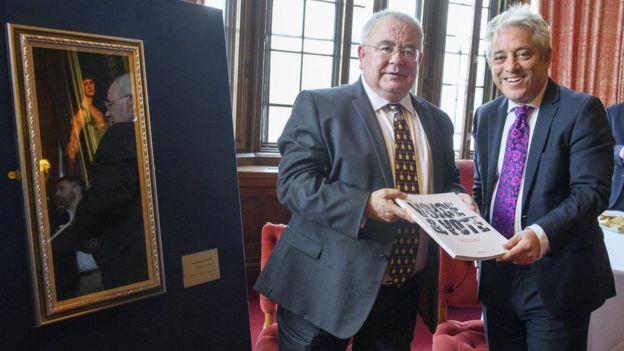 Seán Ó Fearghaíl and John Bercow