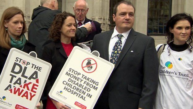 Mathieson family and campaigners outside Supreme Court