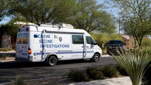 La policía registra la casa de Paddock
