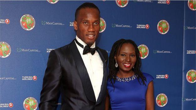 Didier Drogba et sa compagne, Lala Diakité.