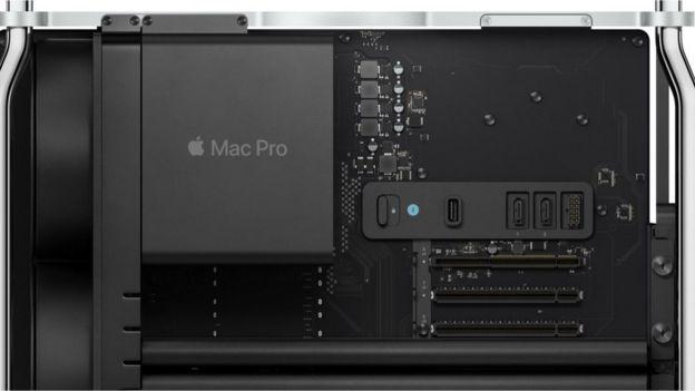 El interior de la Mac Pro