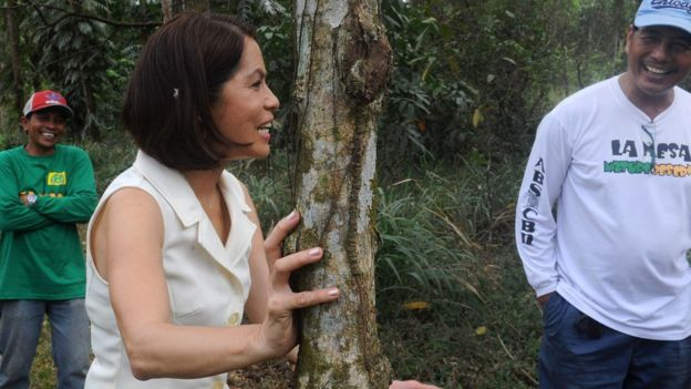 Gina Lopez in the Manila forest in the Philippines
