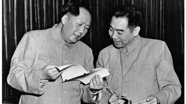 Mao Trạch Đông và Chu Ân Lai năm 1953