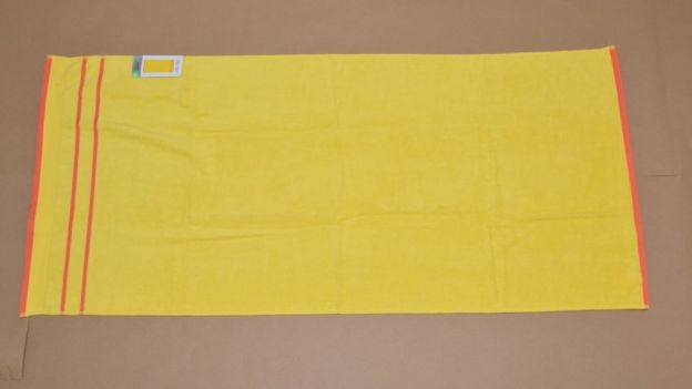 Yellow towel from Primark