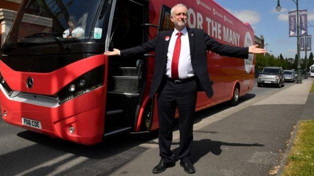 Jeremy Corbyn sonriendo