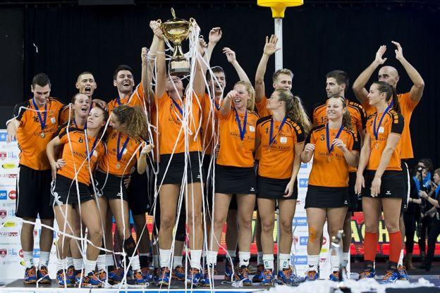 El equipo holandés de korfbal.