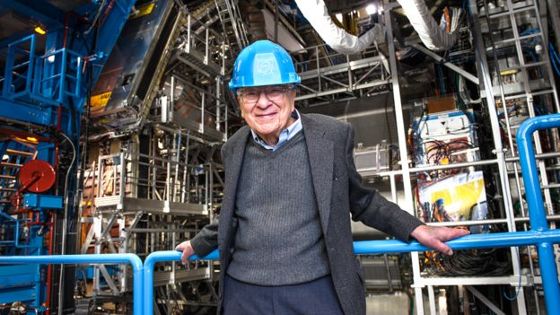 Murray Gell-Mann en el CERN en 2012