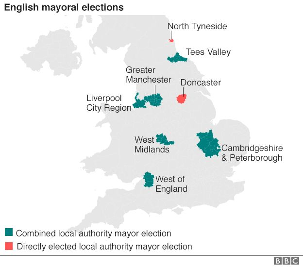 Map: Mayoral elections