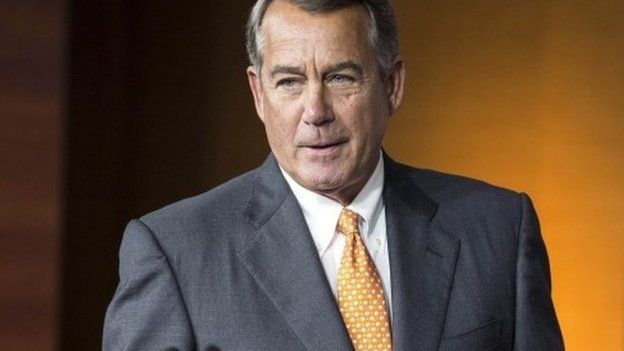 Speaker of the House John Boehner (R-OH) arrives to speak to a news conference on Capitol Hill in Washington in this September 10, 2015, file photo