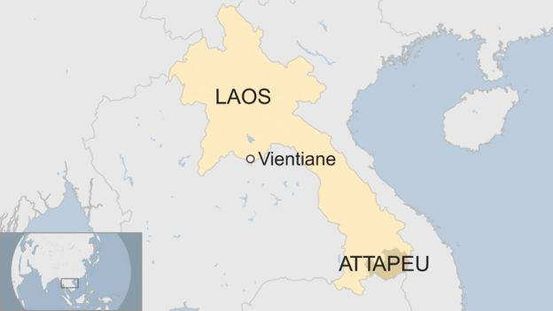 Laos On A World Map.Laos Dam Collapse Many Feared Dead As Floods Hit Villages Bbc News